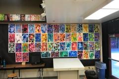 Artwork Wall at Vintage High School