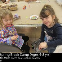Spring Break Arts Camps (Ages 4-8)