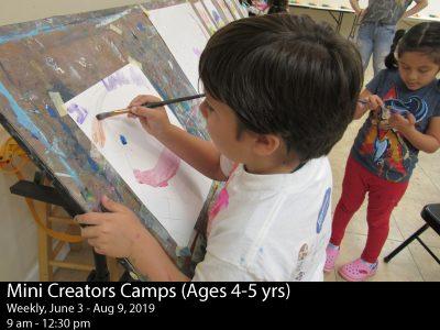 Summer Art Camp Mini Creators (Ages 4 - 5)